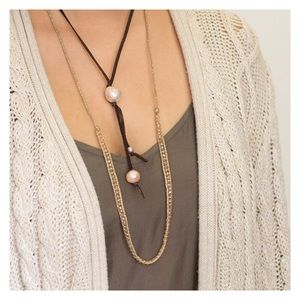 🆕Chan Luu Pearl & Leather Necklace